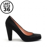 United Nude Elastic Pump Hi Black Rib